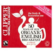 Clipper Fairtrade 80 Organic English Breakfast in Unbleached, Plastic-Free Bags 232g