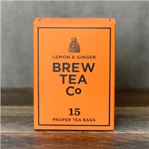 Brew Tea Co Lemon & Ginger 15 Bags