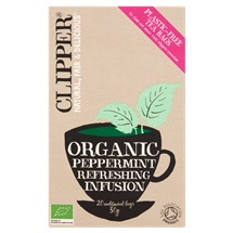 Clipper Organic Peppermint 20 Unbleached Bags 30g