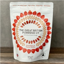 Great British Porridge Co Strawberry & Peanut Butter 385g