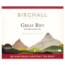 Birchall Great Rift Breakfast Blend 80 Plant-Based Everyday Tea Bags 250g