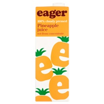 Eager 100% Cloudy Pressed Pineapple Juice 1 Litre